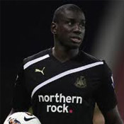 Demba Ba in action for Newcastle United against Stoke