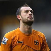 Steven Fletcher in action for Wolves in the Premier League