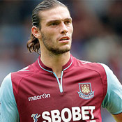 Andy Carroll in action for West Ham