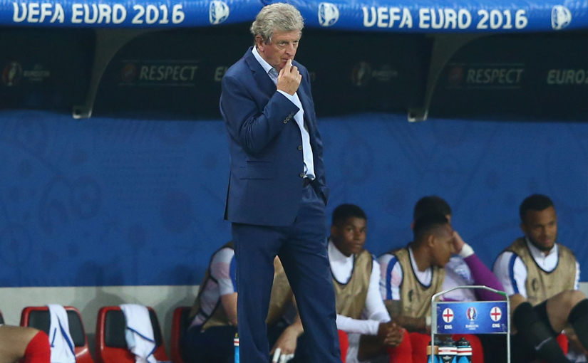 A dejected Roy Hodgson looks on during Euro 2016